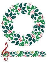 Christmas Music Wreath And Sea...