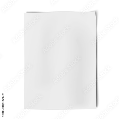Valokuva  Vector sheet of white paper isolated