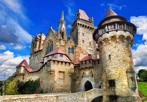 obraz PCV piękny średniowieczny zamek Kreuzenstein, Austria