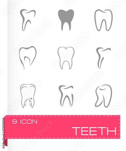 Vector teeth icon set #73870304