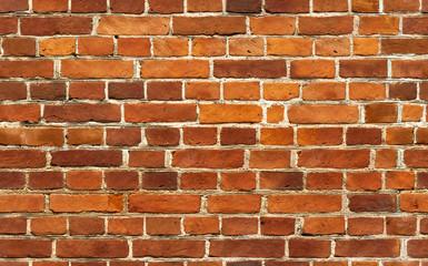 Red brick wall seamless background pattern