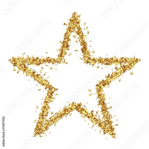 Fotografía Stern, Goldstern, Weihnachsstern, Sternchen, viele, Rahmen, Rand