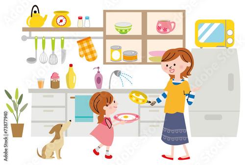 キッチン Canvas-taulu