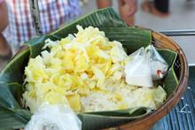 Thailand Dessert - Boiled Potatoes Put Coconut