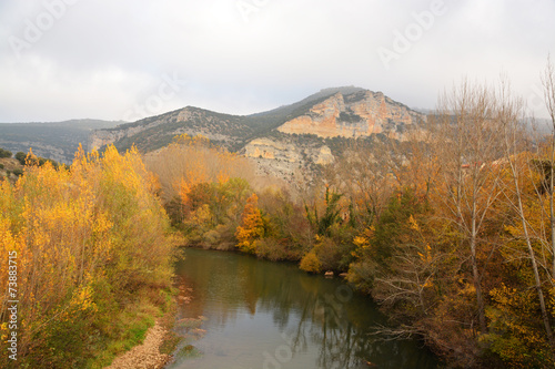 Foto auf Leinwand Rotglühen cañon del rio ebro
