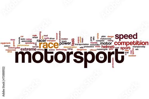 Fotografía  Motorsport word cloud