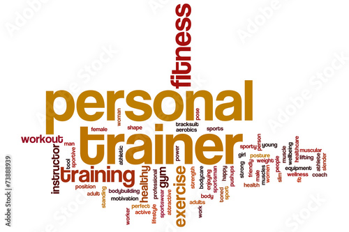 Personal trainer word cloud