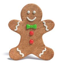 3d Illustration Of A Gingerbread Man