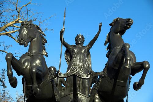 Queen Boudica statue Canvas Print