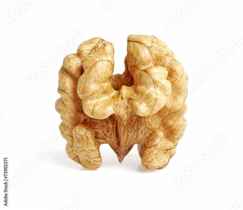Cuadros en Lienzo  Kernel walnut isolated on the white background closeup