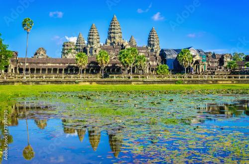 mata magnetyczna Niesamowity widok Angkor Wat tample, Siem Reap, Kambodża