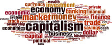 Capitalism Word Cloud Concept....