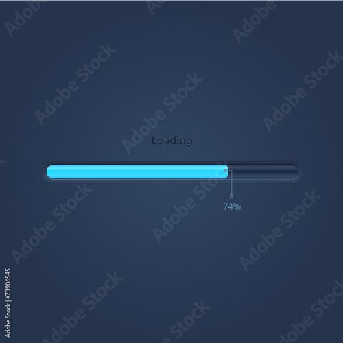 Fotografía  Vector progress loading bar