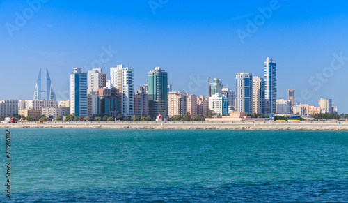Fotobehang Midden Oosten Skyline of Manama city, Bahrain, Middle East