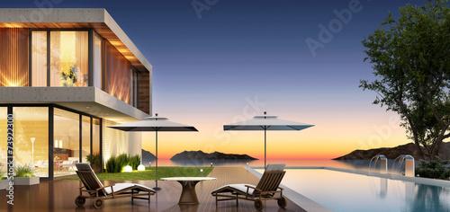 Fényképezés  Modern house by the sea