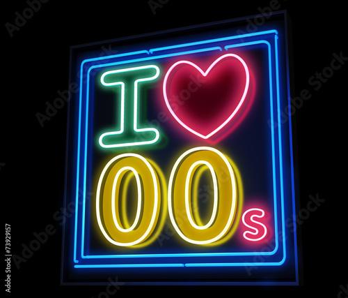 Valokuva  I love the 00s neon