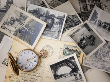 Pocket Watch With Old Photogra...