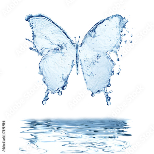 Papiers peints Eau water splash butterfly