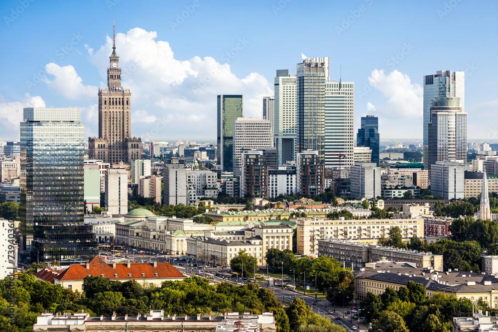 Obraz Warsaw downtown fototapeta, plakat