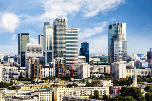 Fototapeta Warsaw business district obraz