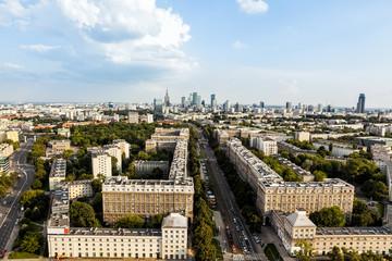 Panel Szklany Warszawa Warsaw aerial view