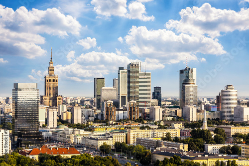 fototapeta na ścianę Dzielnica biznesowa Warszawa