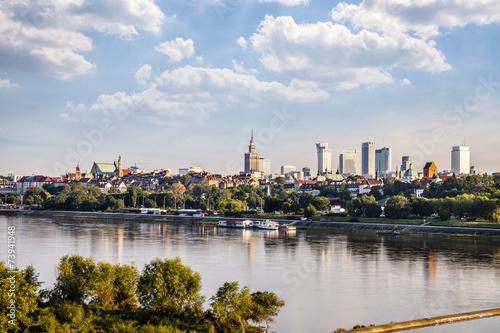 Obraz w ramie Warsaw downtown at afternoon