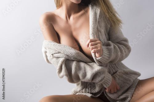 Obraz na plátne Fashion cleavage