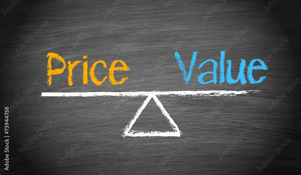 Fototapeta Price and Value