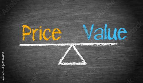 Fototapeta Price and Value obraz
