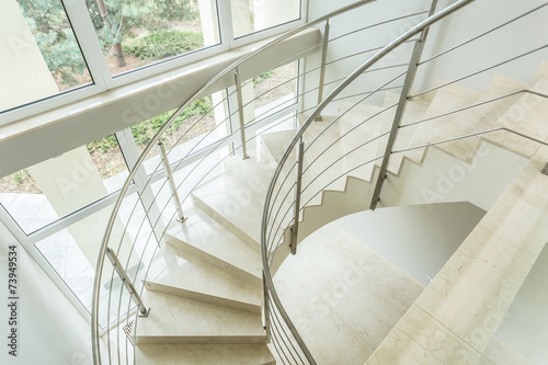Valokuva  Winding stairs in luxury apartment