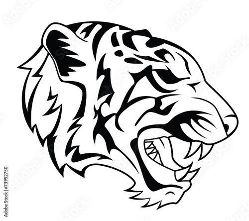 Fototapety, obrazy: Tiger Head Tattoo