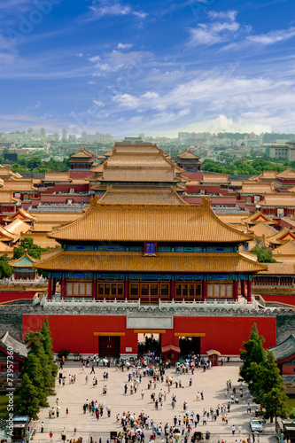 Aerial view of the Forbidden City. Beijing, China Canvas Print