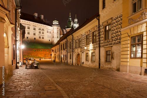 Fototapeta Kanonicza Street in Krakow at Night obraz