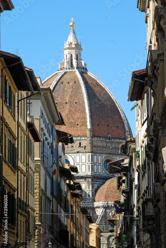 Poster Smal steegje Florence, city of art, history and culture - Tuscany - Italy
