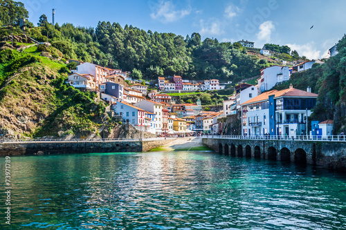 Cudillero, fishing village in Asturias (Spain) Wallpaper Mural