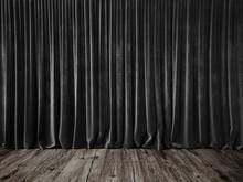 Dark Grey Curtains And Grunge ...