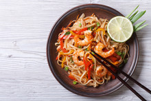Rice Noodles With Shrimps And ...