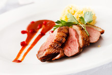 Roasted Duck Breast On Christm...