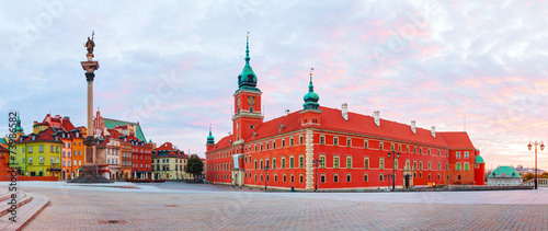Castle square panorama in Warsaw, Poland Fototapet