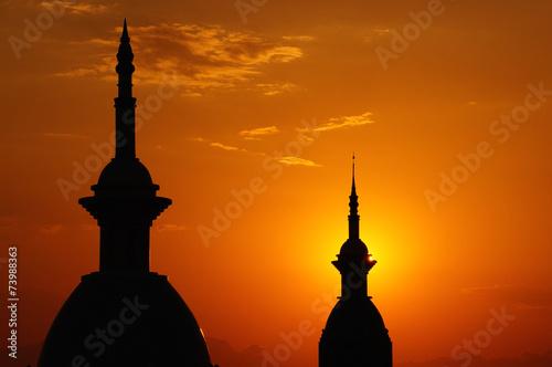 Orientalischer Sonnenuntergang Poster