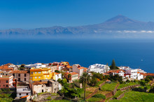 View Of Agulo Town And Teide V...