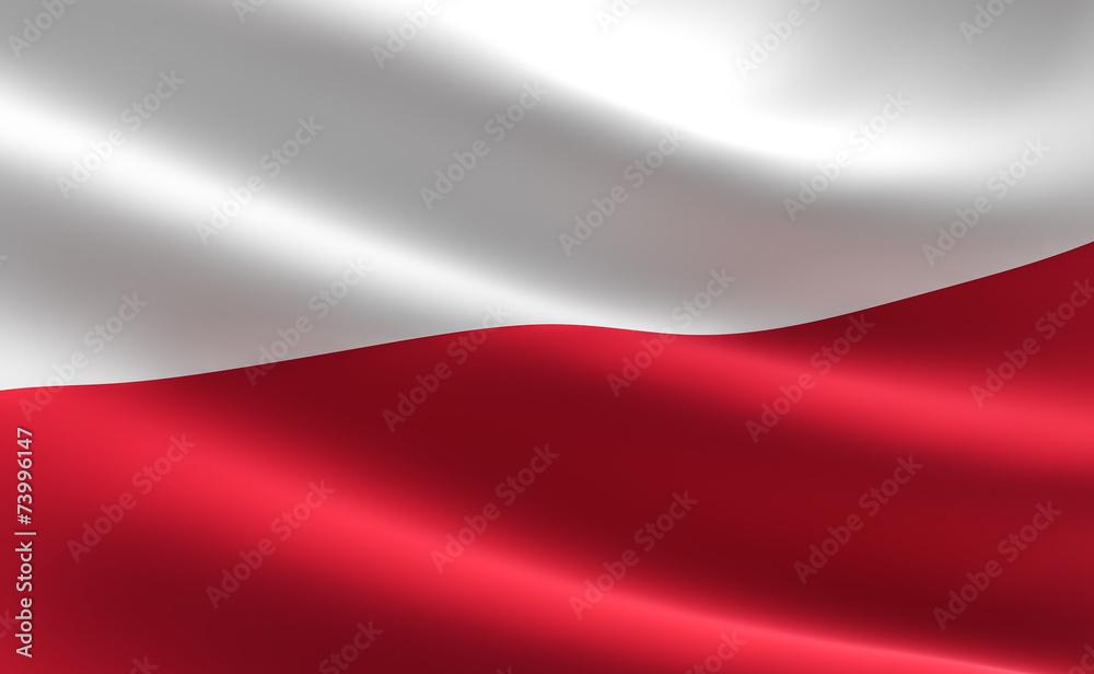 Fototapety, obrazy: Poland flag