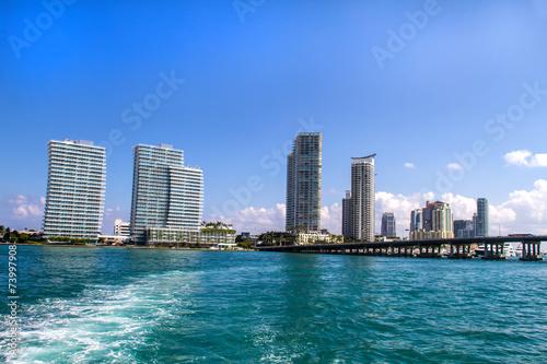 Spoed Fotobehang Centraal-Amerika Landen Miami coast