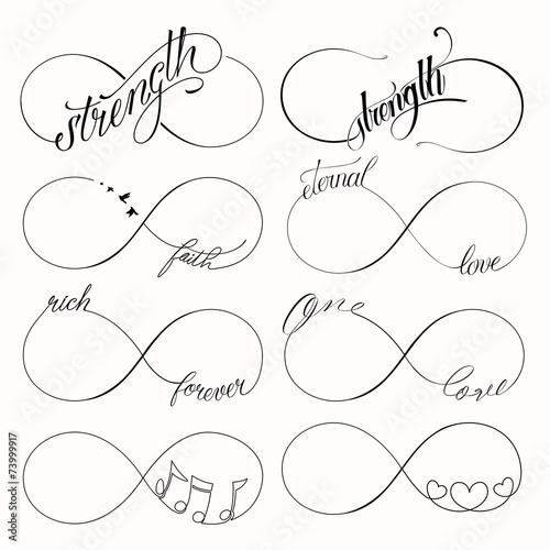 Fotografia  Infinity symbols set