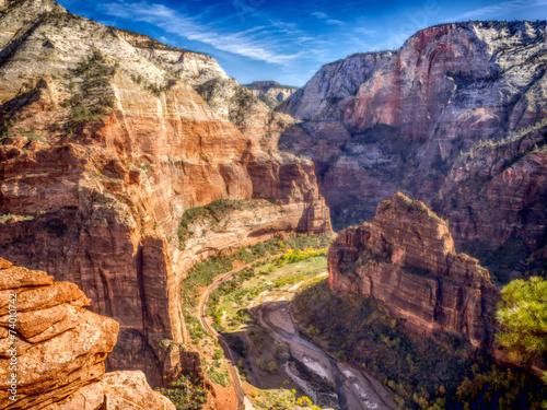 Fototapeta  Zion National Park from the track to Angels landing, Utah