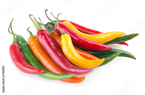 Hot chili Peppers colorful chili peppers