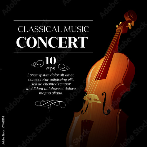 Canvas Print Poster of a classical music concert. Vector illustration