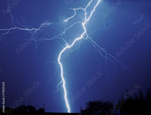 Fotografie, Obraz  Lightening storm
