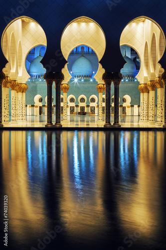 Fotobehang Midden Oosten mosque at night